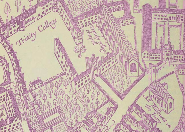 Vintage map of Cambridge