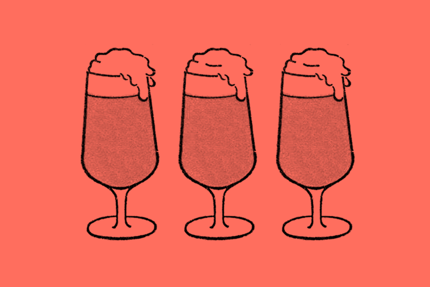 Illustration: a round of drinks.