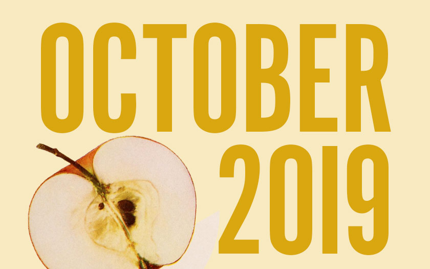 October 2019: apples.