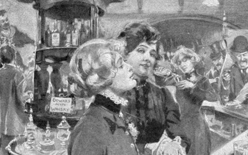 Edwardian barmaids.