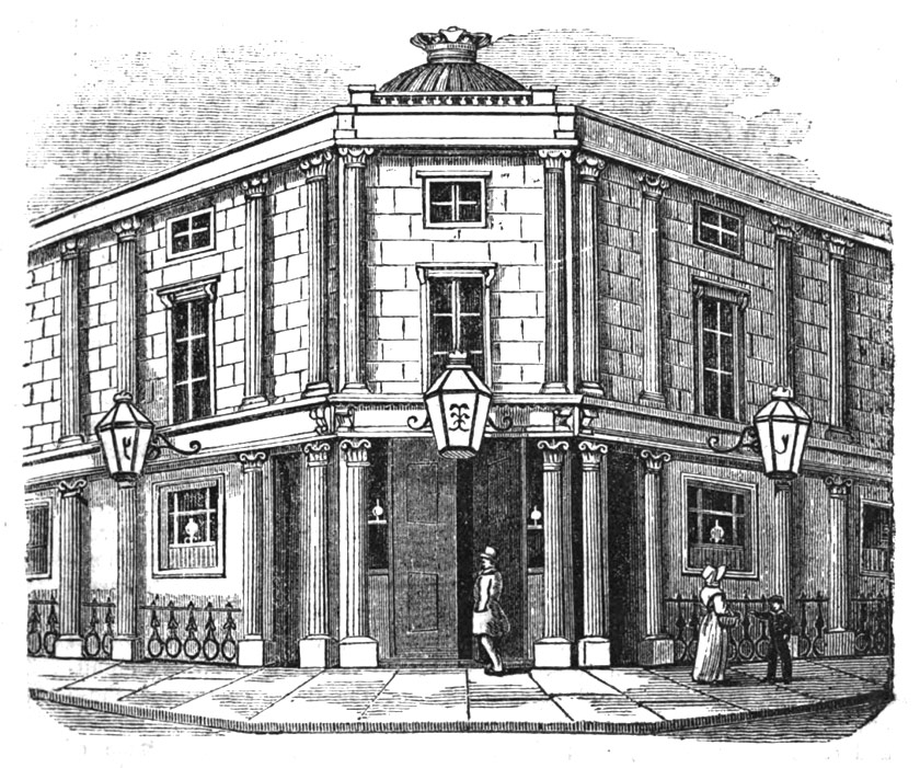 The gin palace vs. the pub, 1836