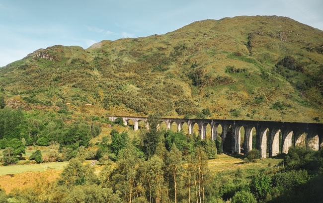 The Glenfinnan Viaduct.