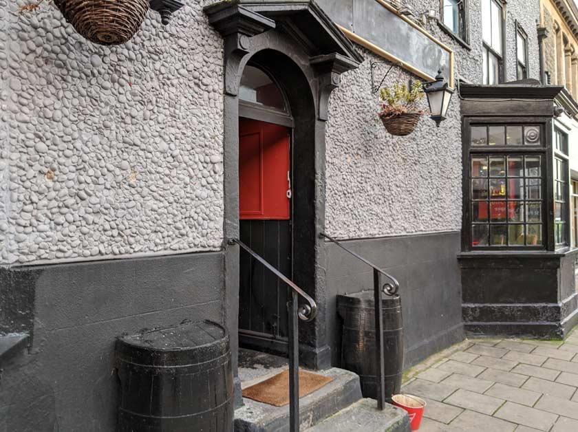 The doorway of Tigerbar.