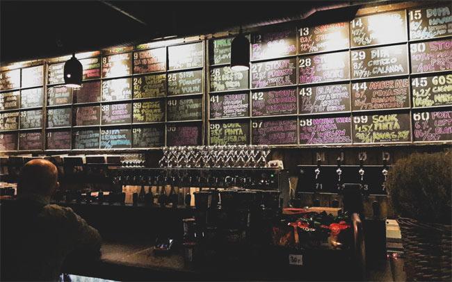 A craft beer bar.