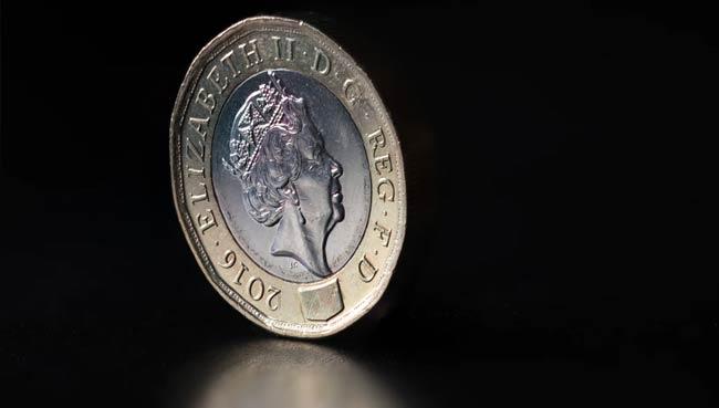 A pound coin.